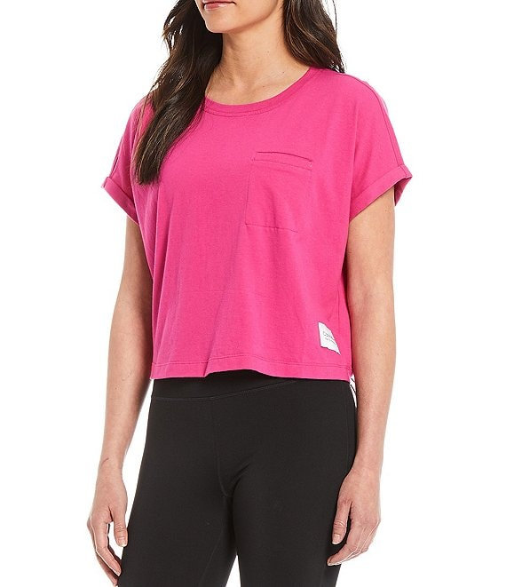 Color:Berry - Image 1 - Performance Short Sleeve Crew Neck Bungee Hem Tee