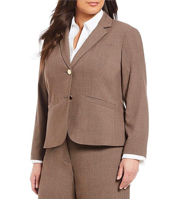 2fc205ff80764 Calvin Klein Plus 2 Button Luxe Notch Collar Jacket   Dillard's