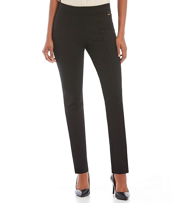 Calvin Klein Slim Leg Pull-On Ponte Pants