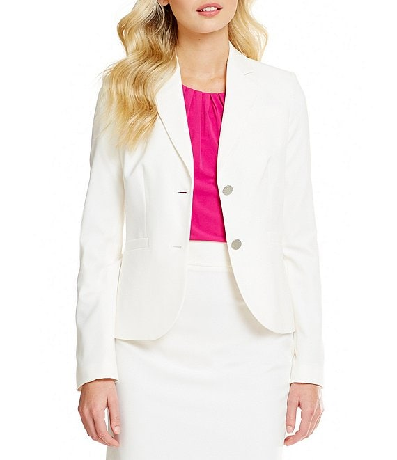 Color:Cream - Image 1 - Two-Button Suit Jacket