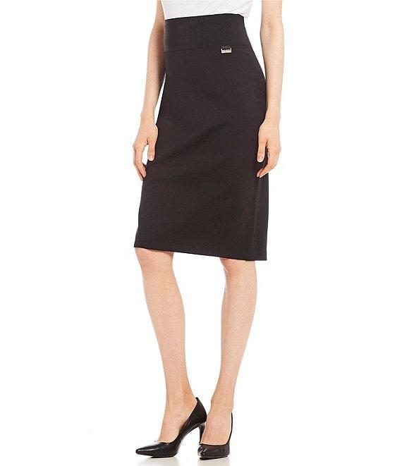 e05b91f8e880 Calvin Klein Wide Waistband Ponte Knit Pencil Skirt   Dillard's