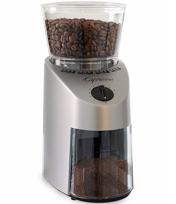 Capresso Infinity Colonical Burr Stainless Finish Grinder