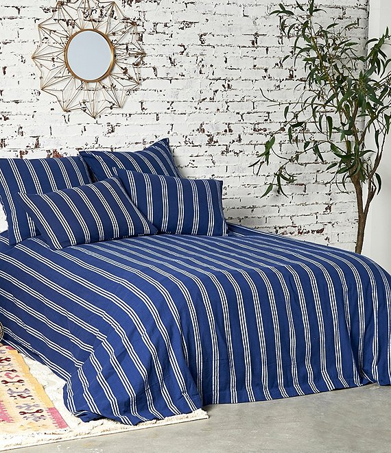 Color:Indigo - Image 1 - Perry Indigo Duvet Cover