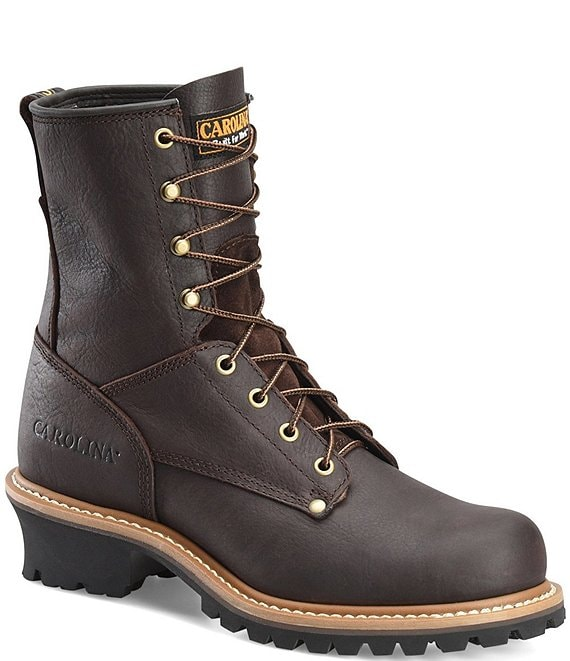 Color:Briar Pitstop - Image 1 - Men's Elm 8#double; Steel Toe Logger Work Boots