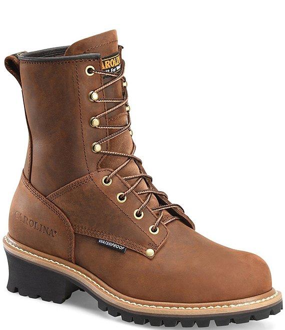 ba35cf6b9c2 Carolina Men's Elm 8#double; Waterproof Steel Toe Logger Work Boots