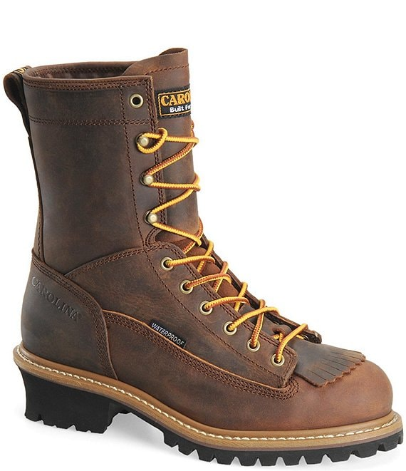 Color:Copper Crazy Horse - Image 1 - Men's Spruce Waterproof Steel Toe Logger Work Boots