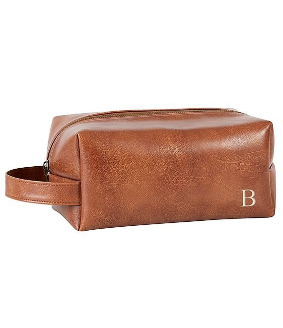 Color:B - Image 1 - Men's Vegan Leather Travel Kit