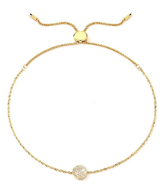 Color:14K Gold - Image 1 - Phase Full Moon 14K Gold & Diamond Bolo Bracelet