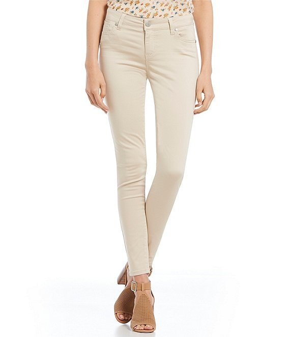 Color:Stone - Image 1 - Mid Rise Skinny Pants