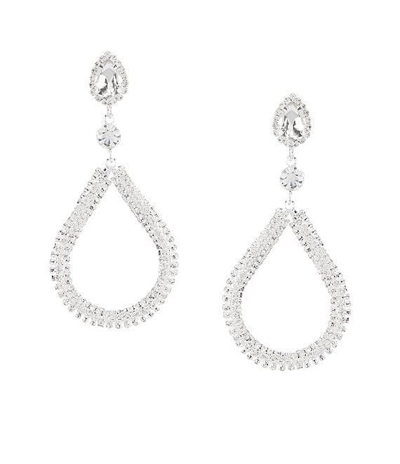 Cezanne Crystal Loop Statement Earrings