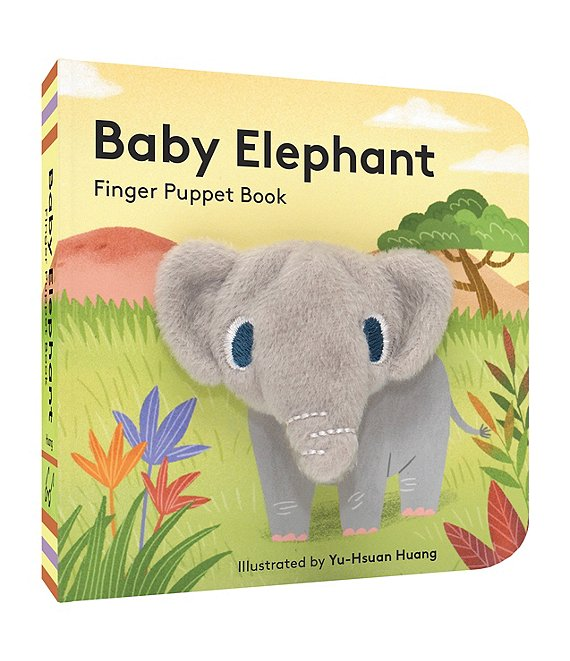 Color:Multi - Image 1 - Baby Elephant Finger Puppet Book