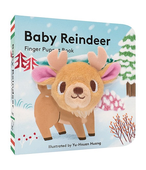 Color:Multi - Image 1 - Baby Reindeer Finger Puppet Book