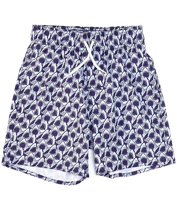 Class Club Big Boys 8-20 Shark Bite Print Swim Trunks