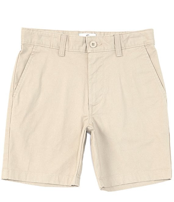 Color:Chino - Image 1 - Big Boys 8-20 Stretch Twill Mid-Length Shorts