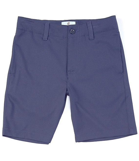 Color:Dark Blue - Image 1 - Big Boys 8-20 Synthetic Twill Short