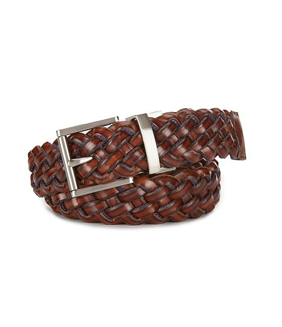Class Club Boys Reversible Braided Leather Belt