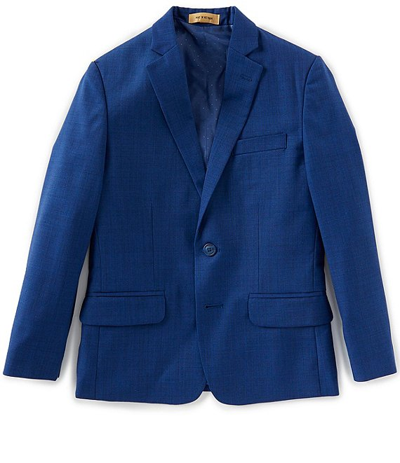 Color:French Blue - Image 1 - Gold Label Big Boys 8-20 Modern Fit French Blue Blazer