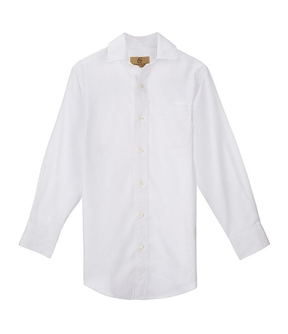 Color:White - Image 1 - Gold Label Big Boys 8-20 Textured Dress Shirt