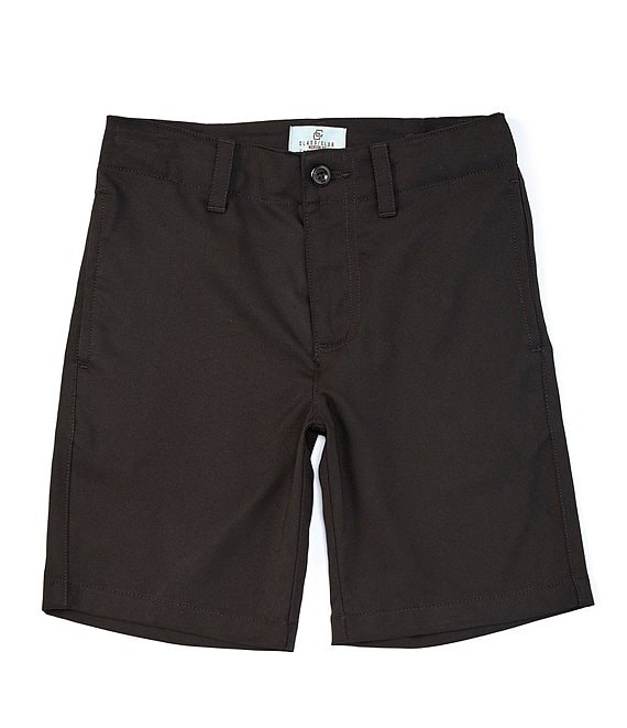 Color:Black - Image 1 - Little Boys 2T-7 Comfort-Stretch Synthetic Shorts