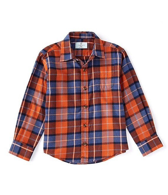 Class Club Little Boys 2T-7 Long-Sleeve Plaid Button-Front Shirt