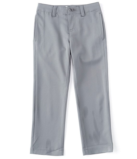 Color:Grey - Image 1 - Little Boys 2T-7 Modern Fit Comfort Stretch Synthetic Pants