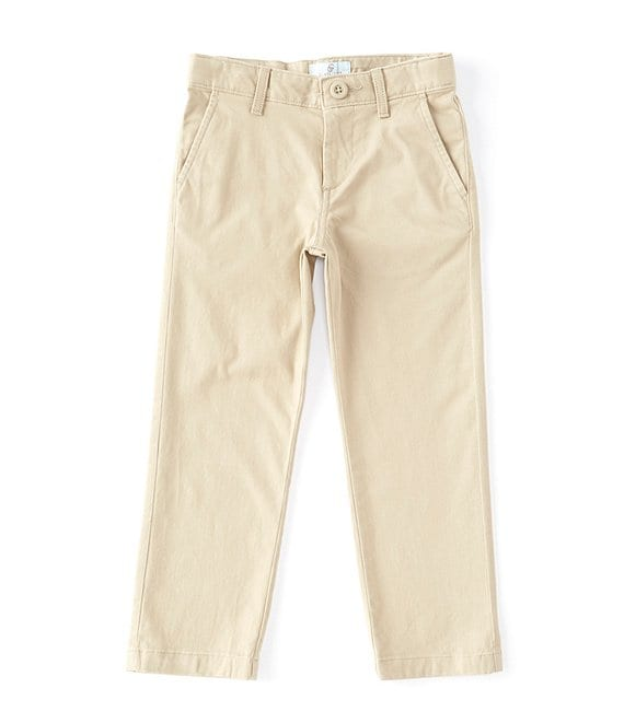Color:Chino - Image 1 - Little Boys 2T-7 Modern-Fit Flat-Front Stretch Twill Pants