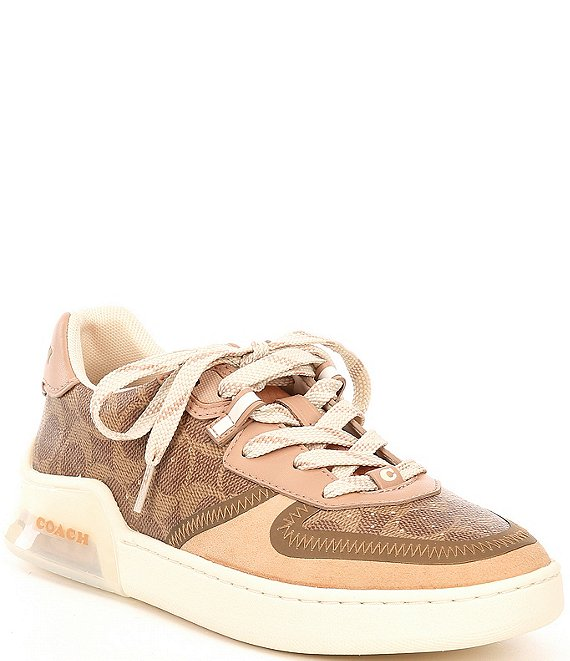 Color:Tan/Beechwood - Image 1 - Citysole Court Lace-Up Sneakers