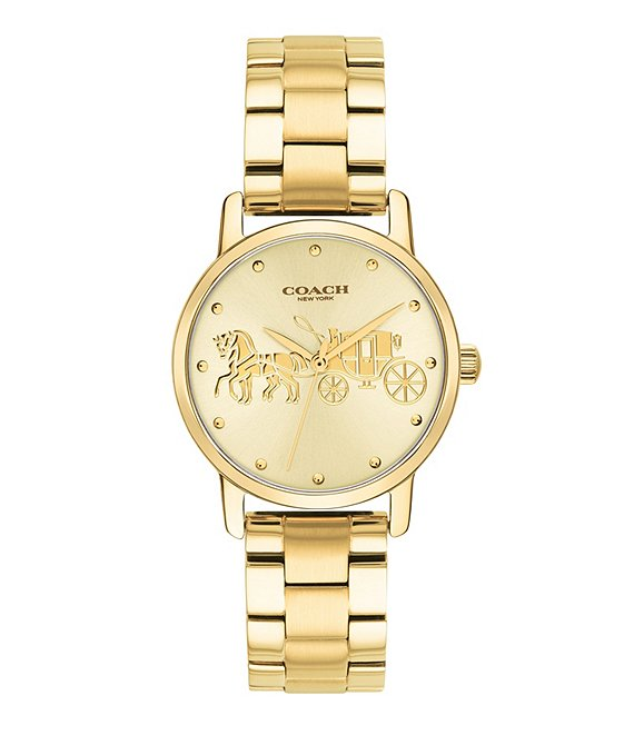 COACH Grand Gold-Tone Stainless Steel Watch