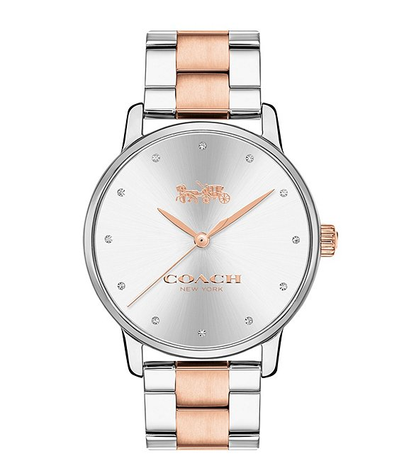 Coach Grand Two Tone Bracelet Watch