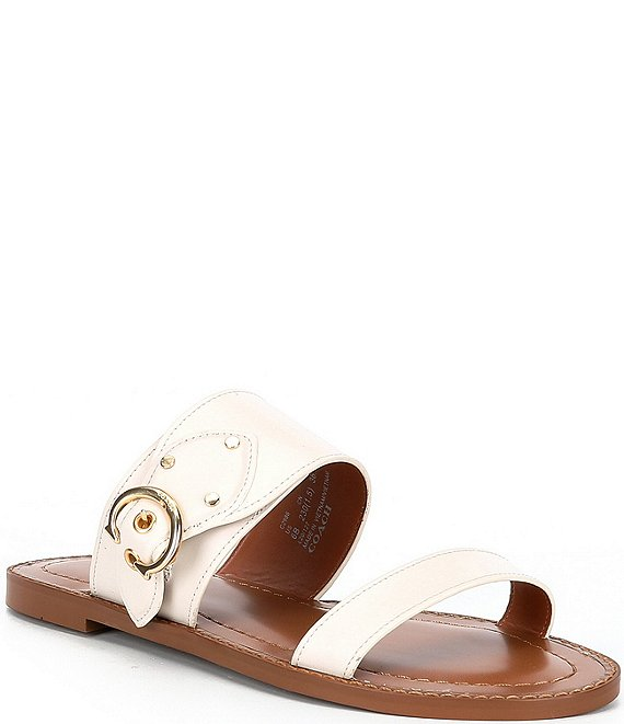Color:Chalk - Image 1 - Harlow Leather Sandals