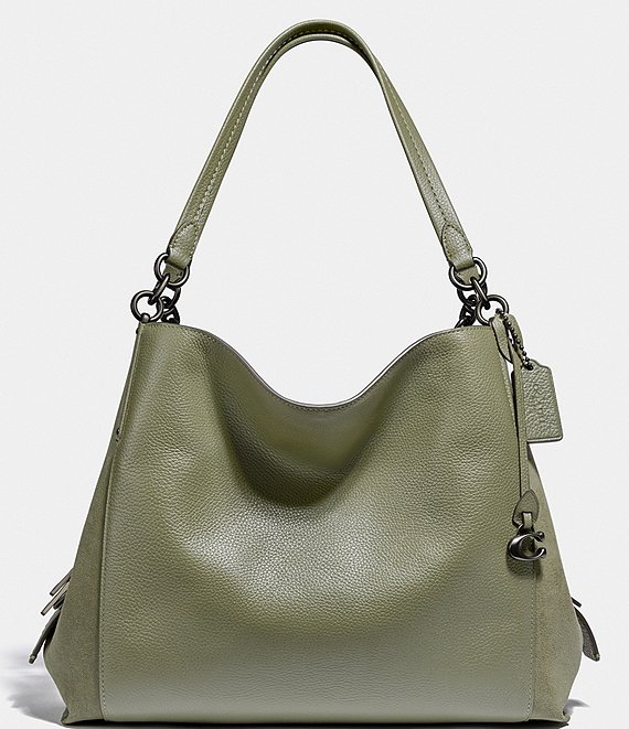 COACH Mixed Leather Dalton Shoulder Bag