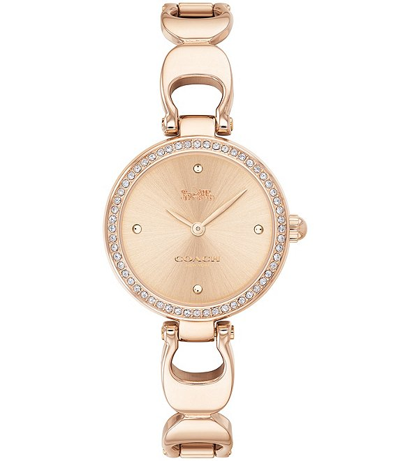 Color:Rose Gold - Image 1 - Park Signature Chain Bangle Watch