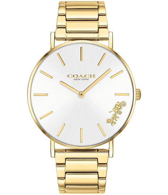 Color:Gold - Image 1 - Perry Gold Tone Bracelet Analog Watch