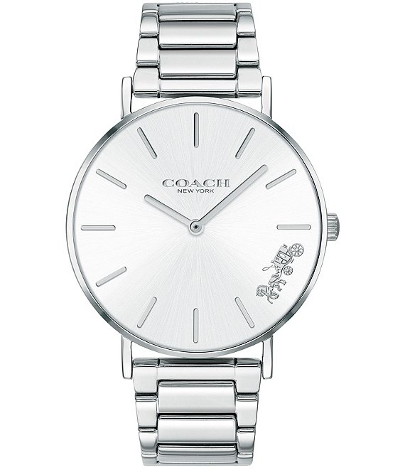 Color:Silver - Image 1 - Perry Stainless Steel Bracelet Quartz Analog Watch