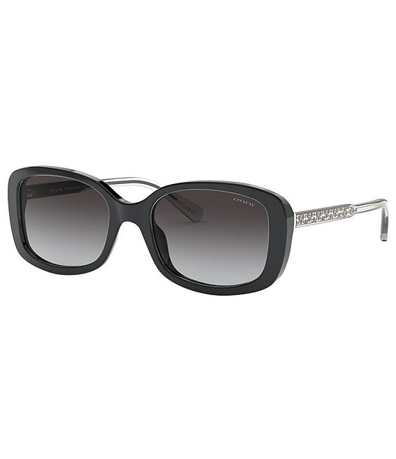 Color:Black - Image 1 - Signature Rectangle Sunglasses