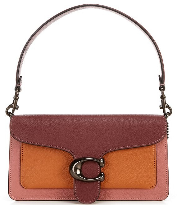 Color:Vintage Pink Multi/Pewter - Image 1 - Tabby Fold Colorblock Shoulder Bag