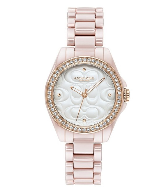 Color:Pink - Image 1 - The Astor Blush Ceramic Watch