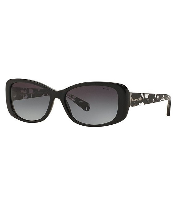 Color:Black Print - Image 1 - Rectangular Gradient Lens Sunglasses