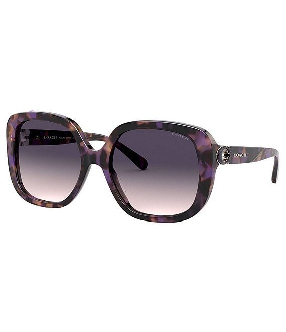 Color:Purple Tortoise - Image 1 - Women's Square 56mm Sunglasses