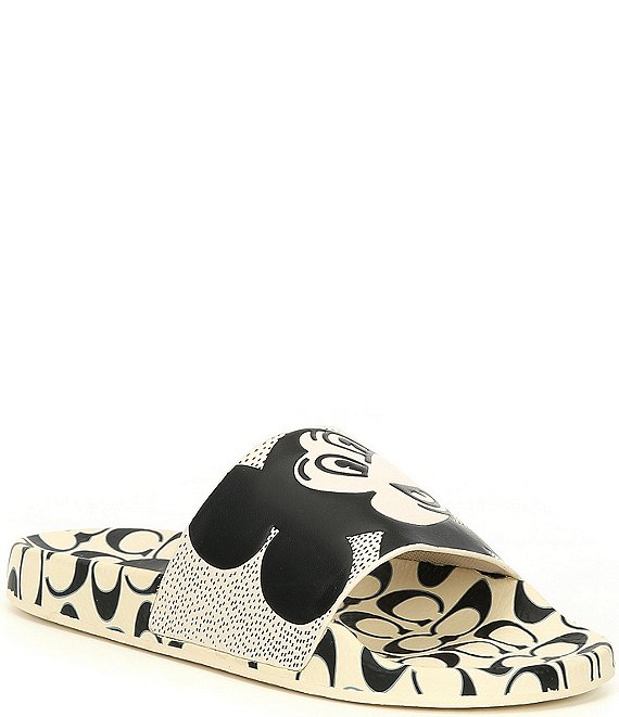 Color:White/Black - Image 1 - Disney Mickey Mouse x Keith Haring Pool Slides