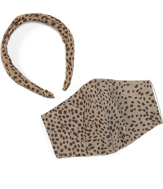 Coco + Jaimeson Animal Print Face Mask and Headband Set