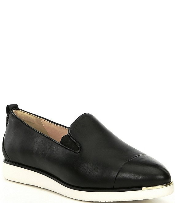 Color:Black - Image 1 - Grand Ambition Leather Slip-Ons