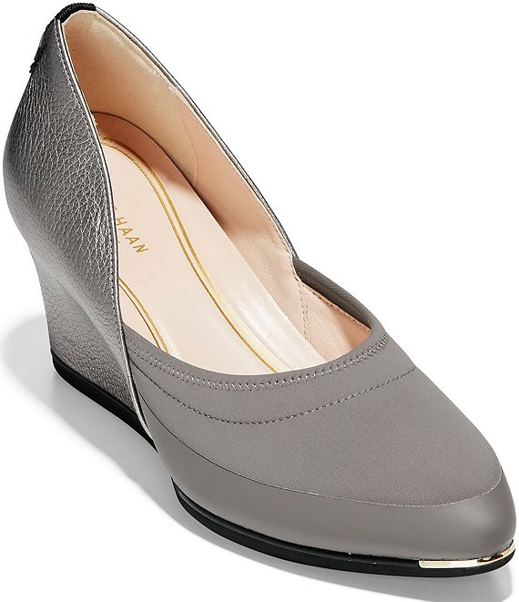 Color:Stormcloud - Image 1 - Grand Ambition Sport Wedge Pumps