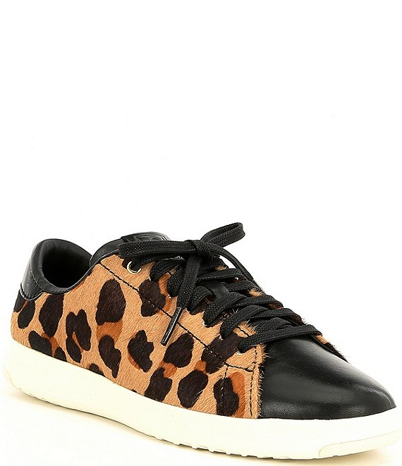 Color:Natural Jaguar/Black/Optic White - Image 1 - Grandpro Leopard Print Tennis Sneakers
