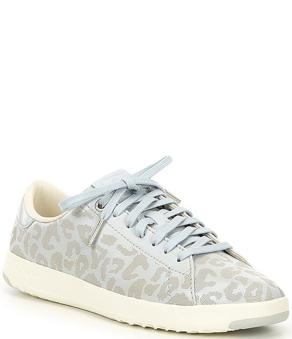Color:Artic Leopard/Silver/Lunar Rock/Optic White - Image 1 - Grandpro Tennis Leopard Print Leather Sneakers