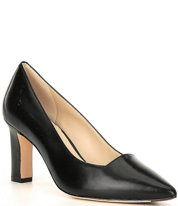 Color:Black - Image 1 - Modern Classic Leather Pumps