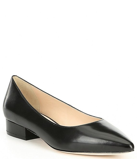 Color:Black - Image 1 - Vesta Leather Skimmer Flats