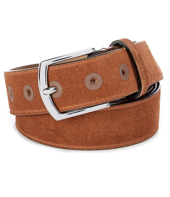 Cole Haan Woodbury Cut Suede Suede Belt