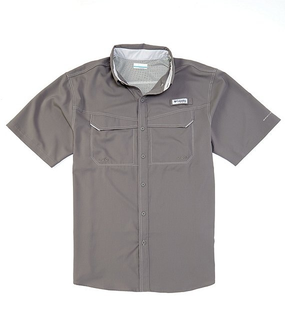 Color:City Grey - Image 1 - PFG Low Drag Offshore Short-Sleeve Woven Shirt