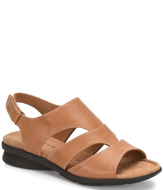 Color:Sand - Image 1 - Parma Banded Leather Sandals